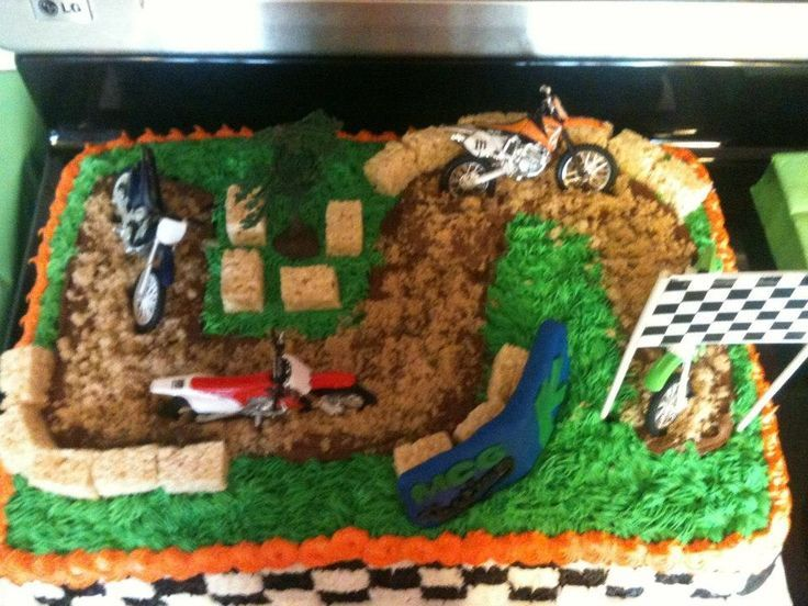 Groovy Dirt Bike Cake Ideas Cakepins Com With Images Boy Birthday Funny Birthday Cards Online Overcheapnameinfo