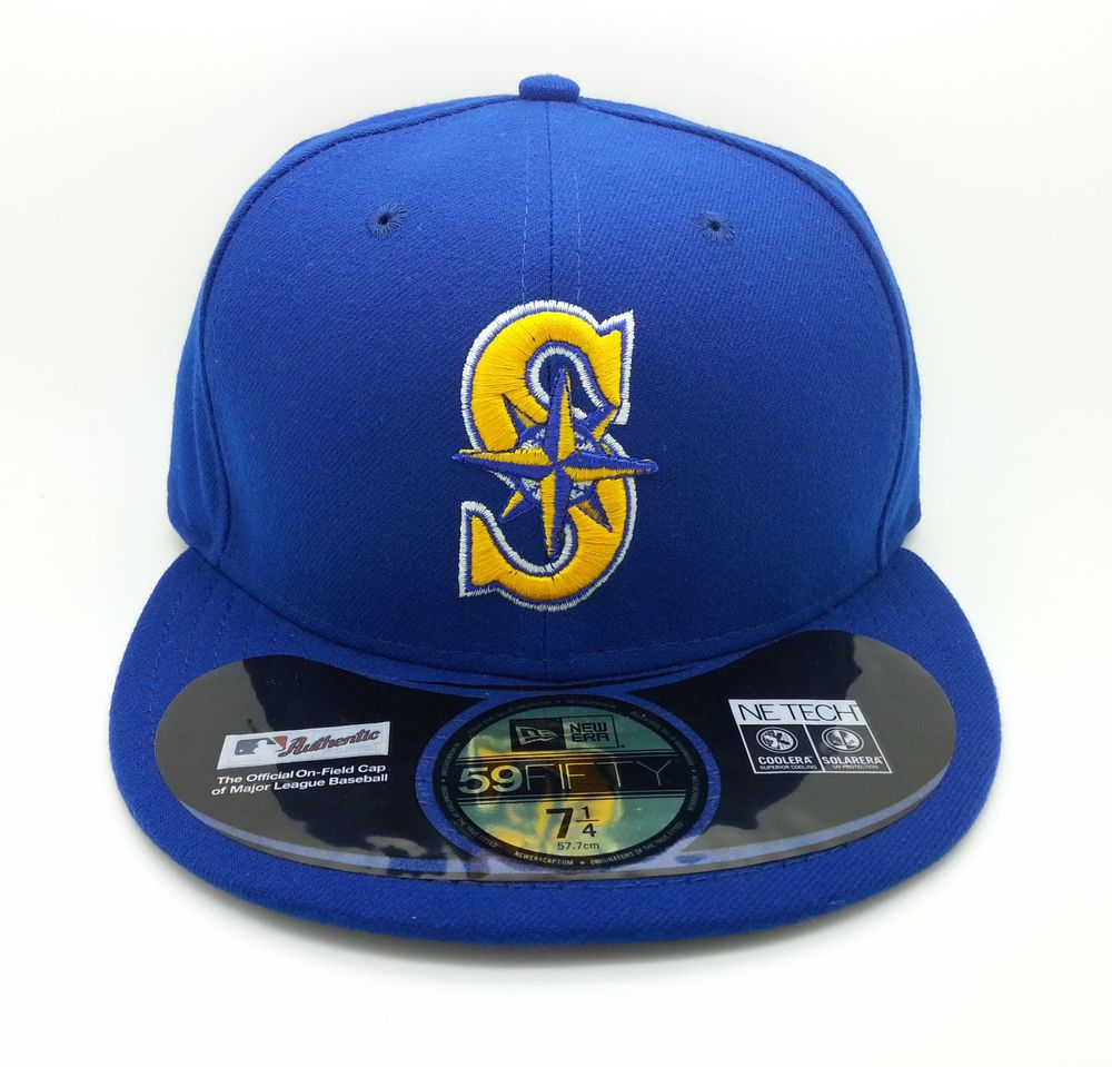 SEATTLE MARINERS ALTERNATE MLB NEW ERA 59FIFTY FITTED HAT CAP (SIZE 7 1 4)- NEW  NEWERA59FIFTY  SeattleMariners 0014cf999