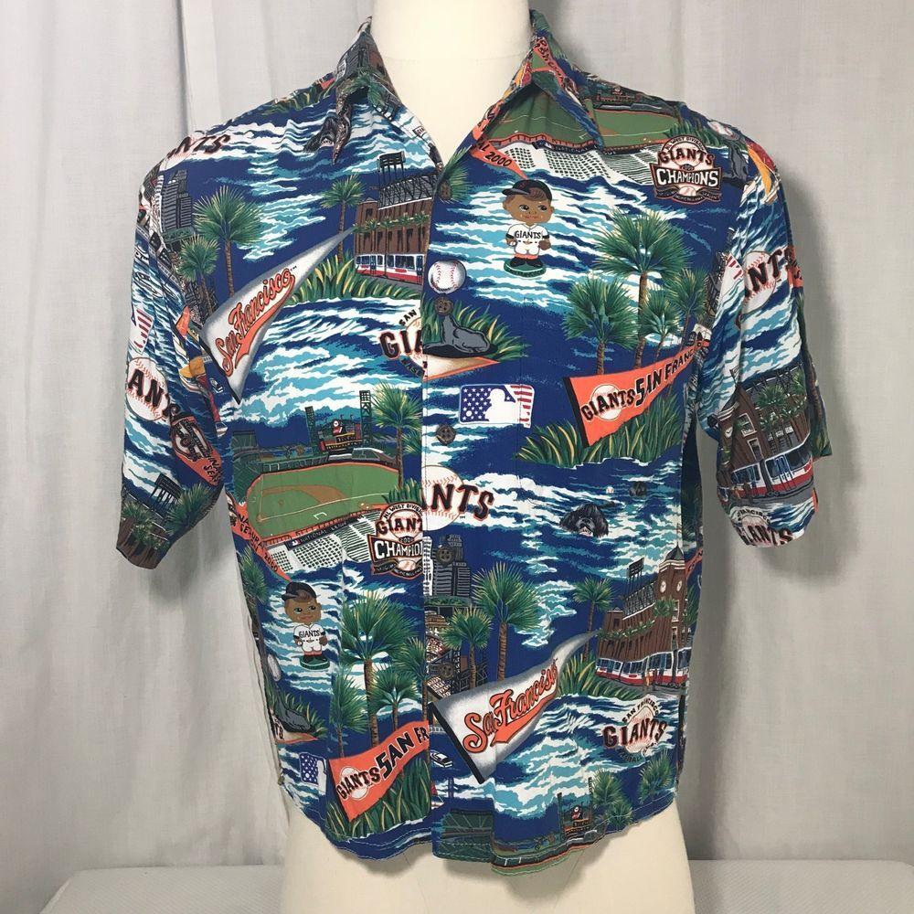 10de17475 San Francisco Giants MLB Reyn Spooner Hawaiian Shirt M Pac Bell Park  Baseball #sfgiants #ReynSpoonerGenuineMLBMerchandise #SanFranciscoGiants