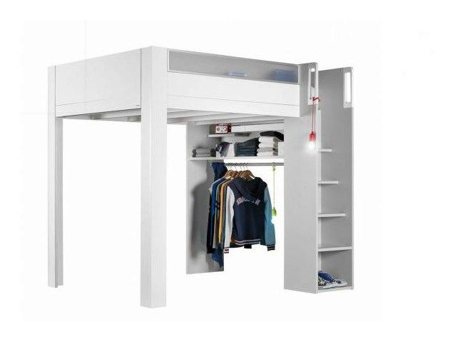 Loft Lacquered Bed For Kids Bedroom Dimix By Gautier France Lit Mezzanine Meubles Gautier Idees De Lit