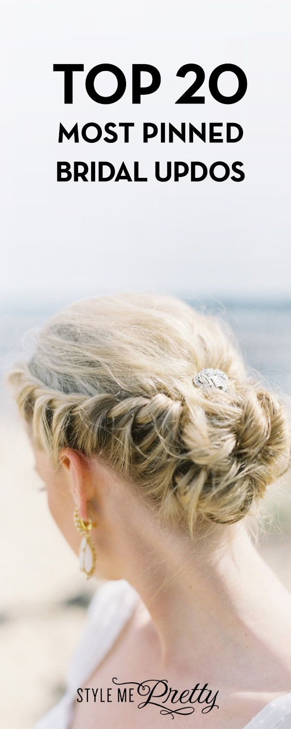 Top 20 Most Pinned Bridal Updos | Up dos