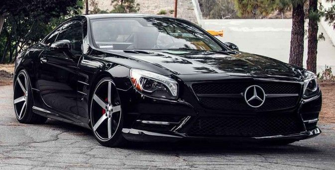 Mercedes SL 550 on Vossen VVS-CV3