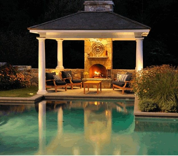 Outdoor Gazebo Lighting Interesting Pergola Gazebo Lighting Fixtures  Pergolas Stone Walkway And Lights