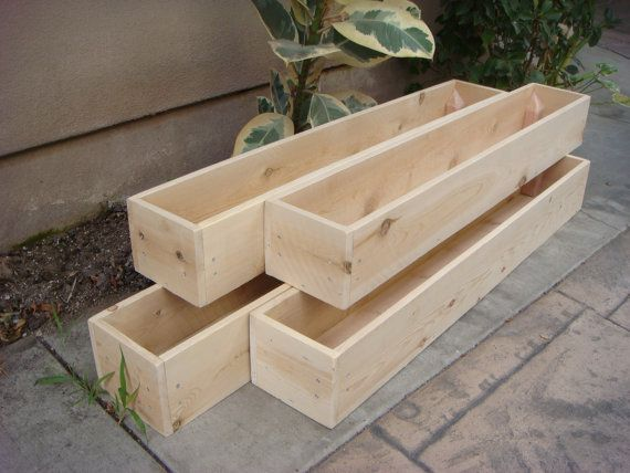 Custom Wood Planters Table Centerpiece Flower Boxes 12