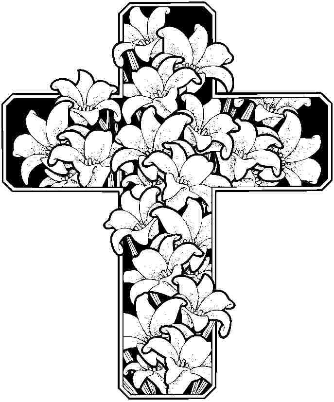Easter Flowers Coloring Pages Printable Free For Kindergarten