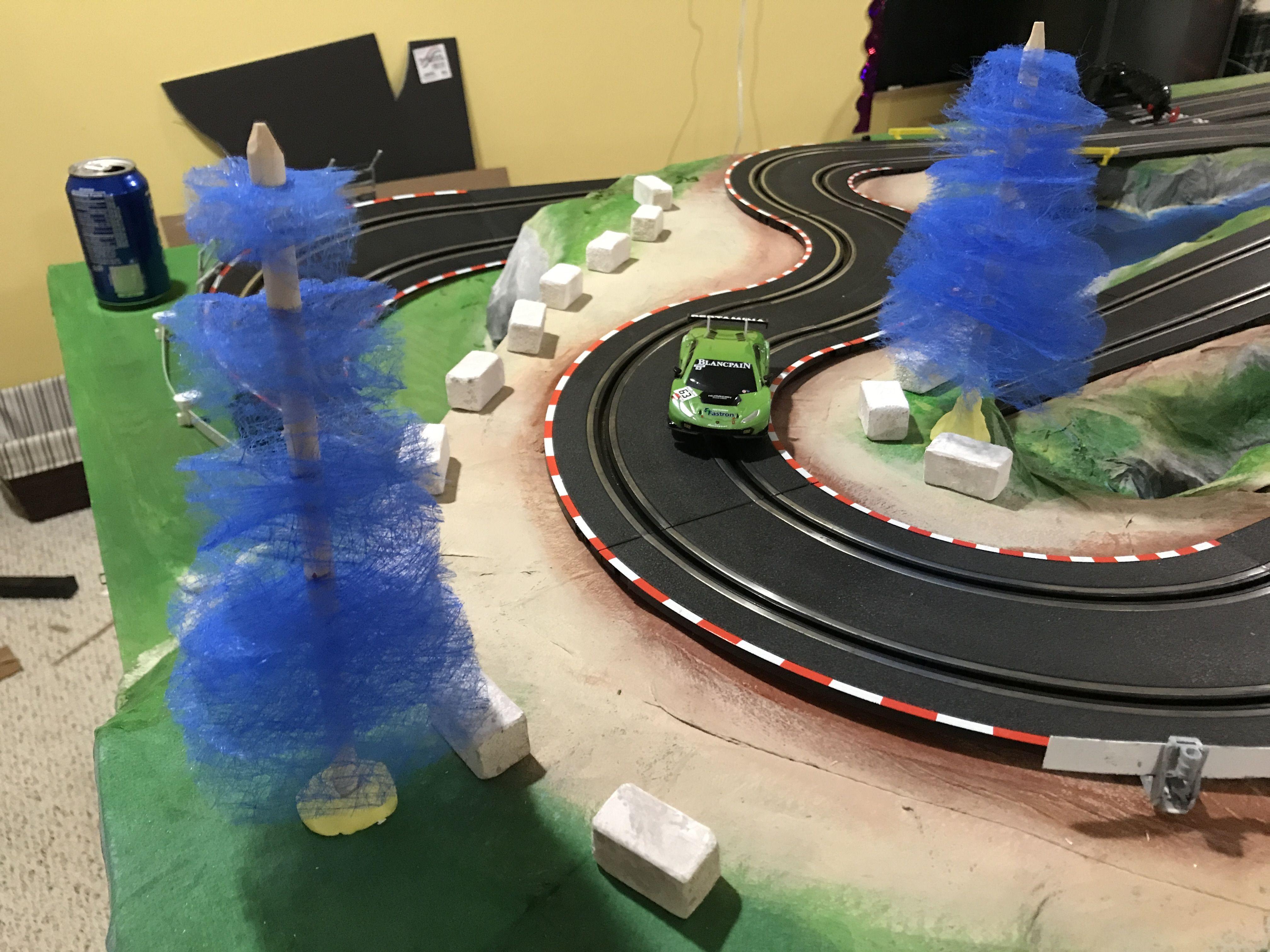 Carrera Go 1/43 slot car track WIP. Trees inprogress