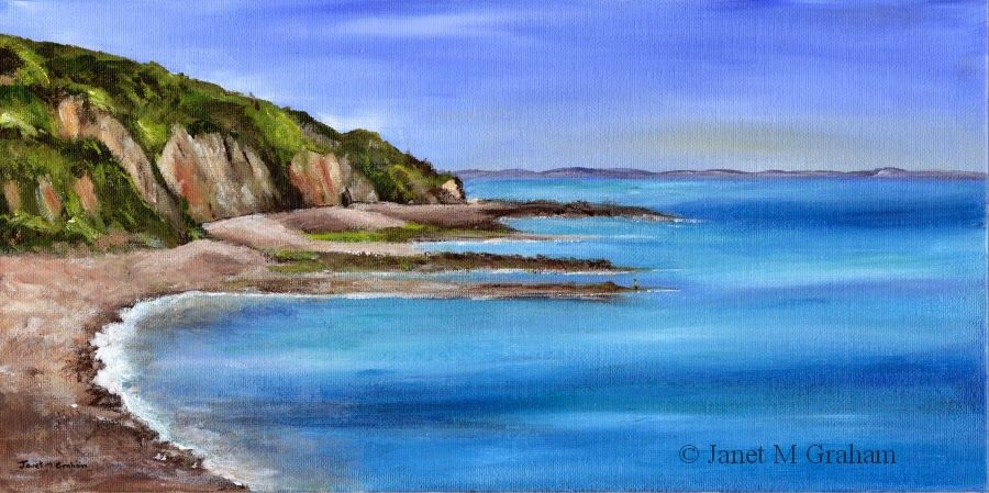 Janet M Graham's Painting Blog: Coastal View in acrylics