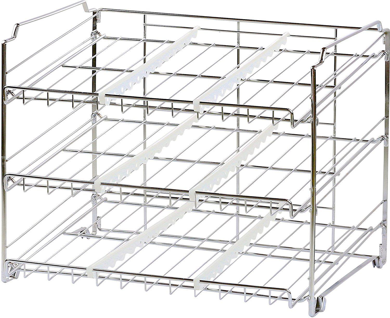 Amazon Com Simplehouseware Stackable Can Rack Organizer Chrome Kitchen Rack Kitchen Storage Organization Kitchen Storage
