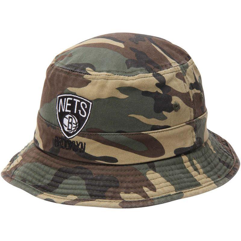 Brooklyn Nets adidas Camo Bucket Hat - Green  f5f45d6fd7a