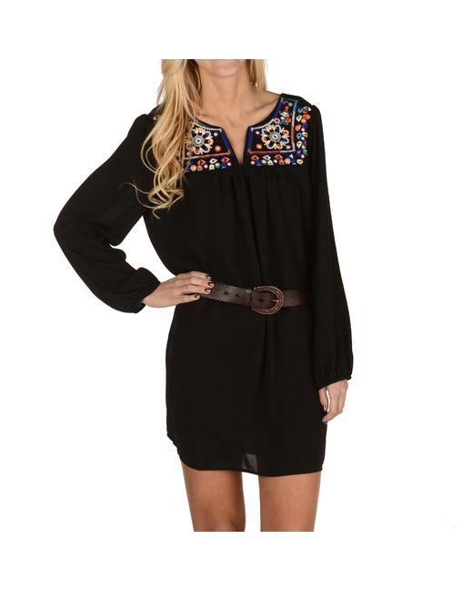 Cowboy Boots Cowgirl Boots Floral Dress Black Long Sleeve Floral Dress Dresses