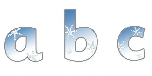 Winter Display Lettering Amp Symbols Snowflakes Winter Display Lettering Display Letters