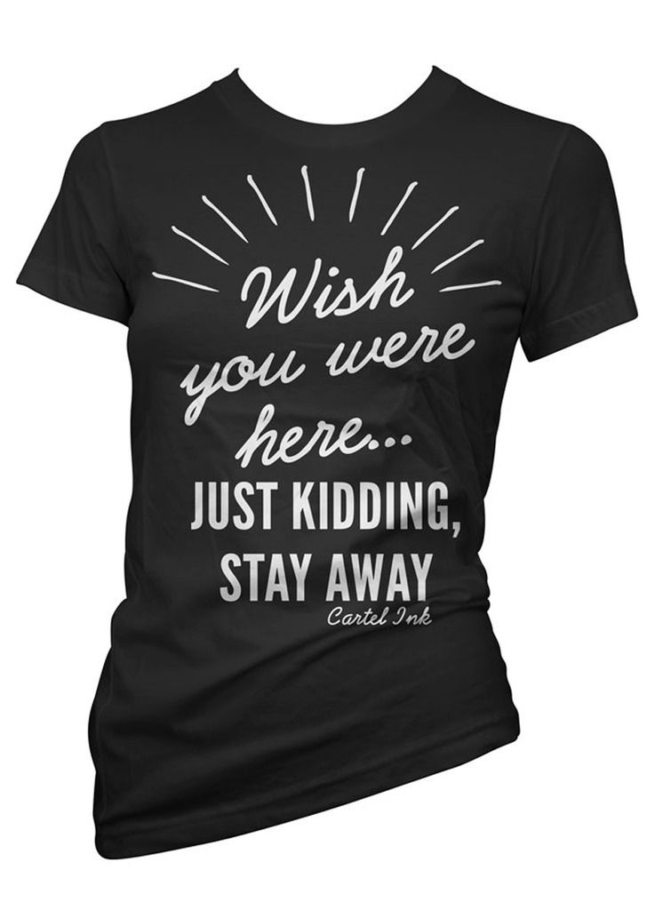 Wish You Were Here T-Shirt Black Women's By Cartel Ink - Hell's Boutique