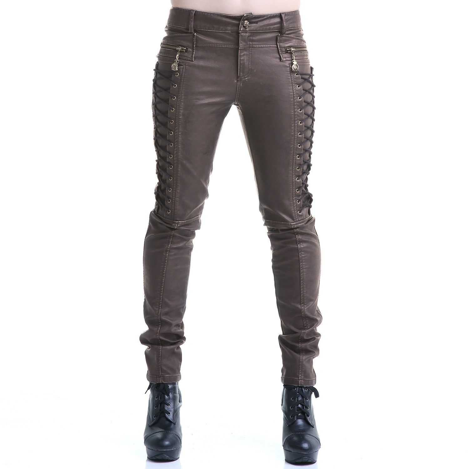 Brown Steampunk Pants Made of Leather   Crazyinlove ...