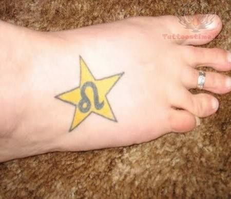 Leo Tattoo Symbol On Back Leo Foot Tattoos Pinterest Leo