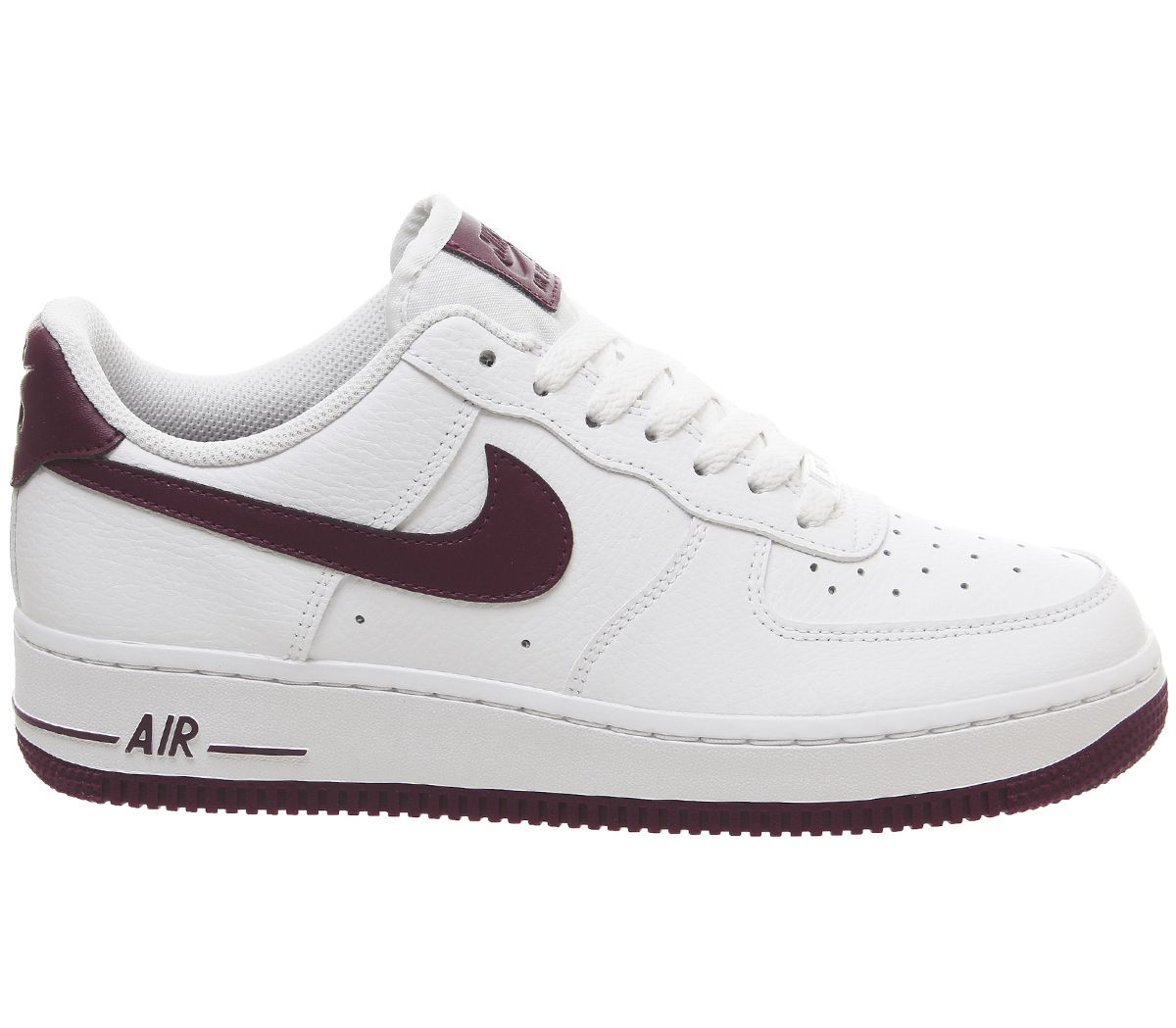 Nike Air Force 1 07 Trainers White Bordeaux - Hers trainers ...