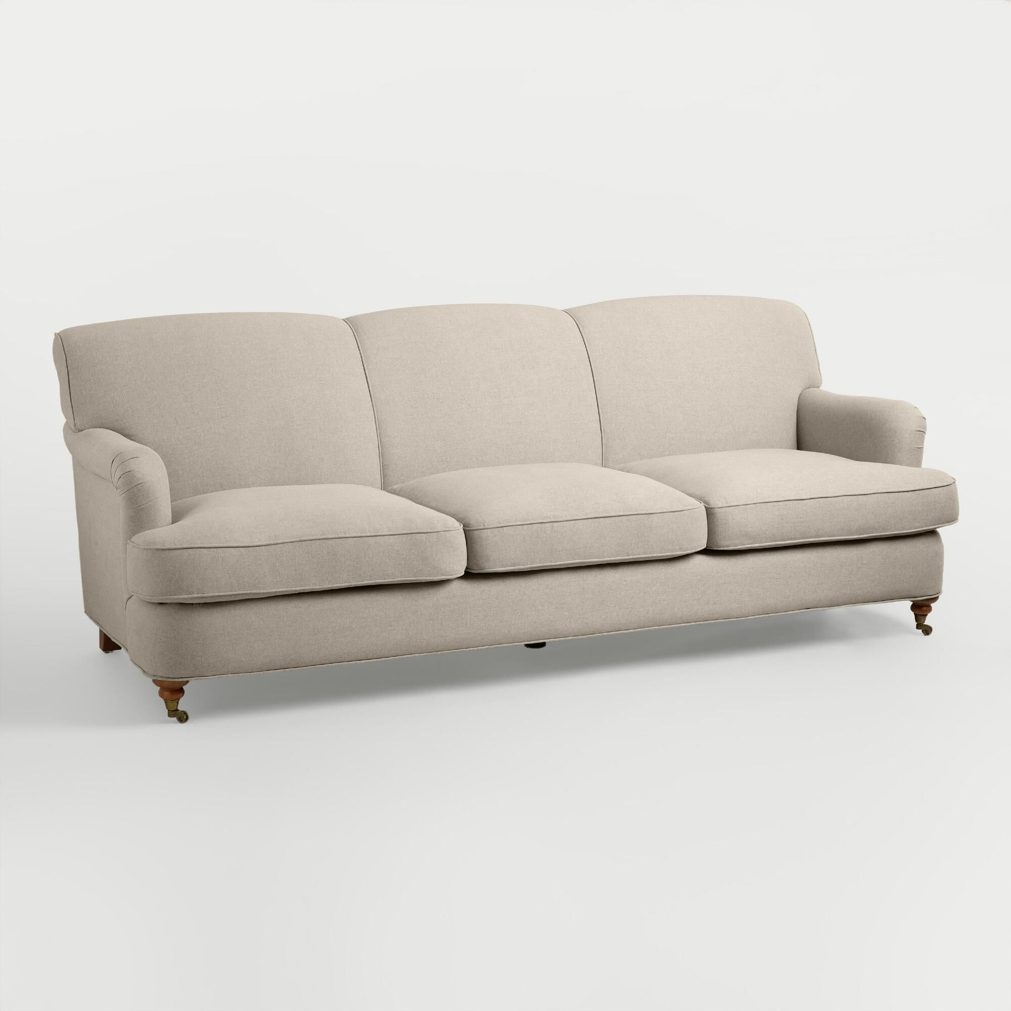 Oatmeal Sofa Sofas Under 600 Pounds English Roll Arm Shelton Brown Gray Natural By World Market