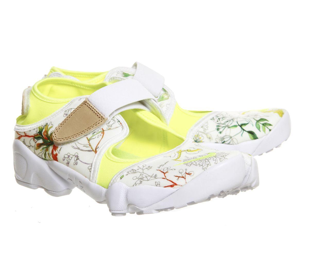 Outlet Women Nike Nike Air Rift Liberty White Vachetta Tan Qs Unisex Sports