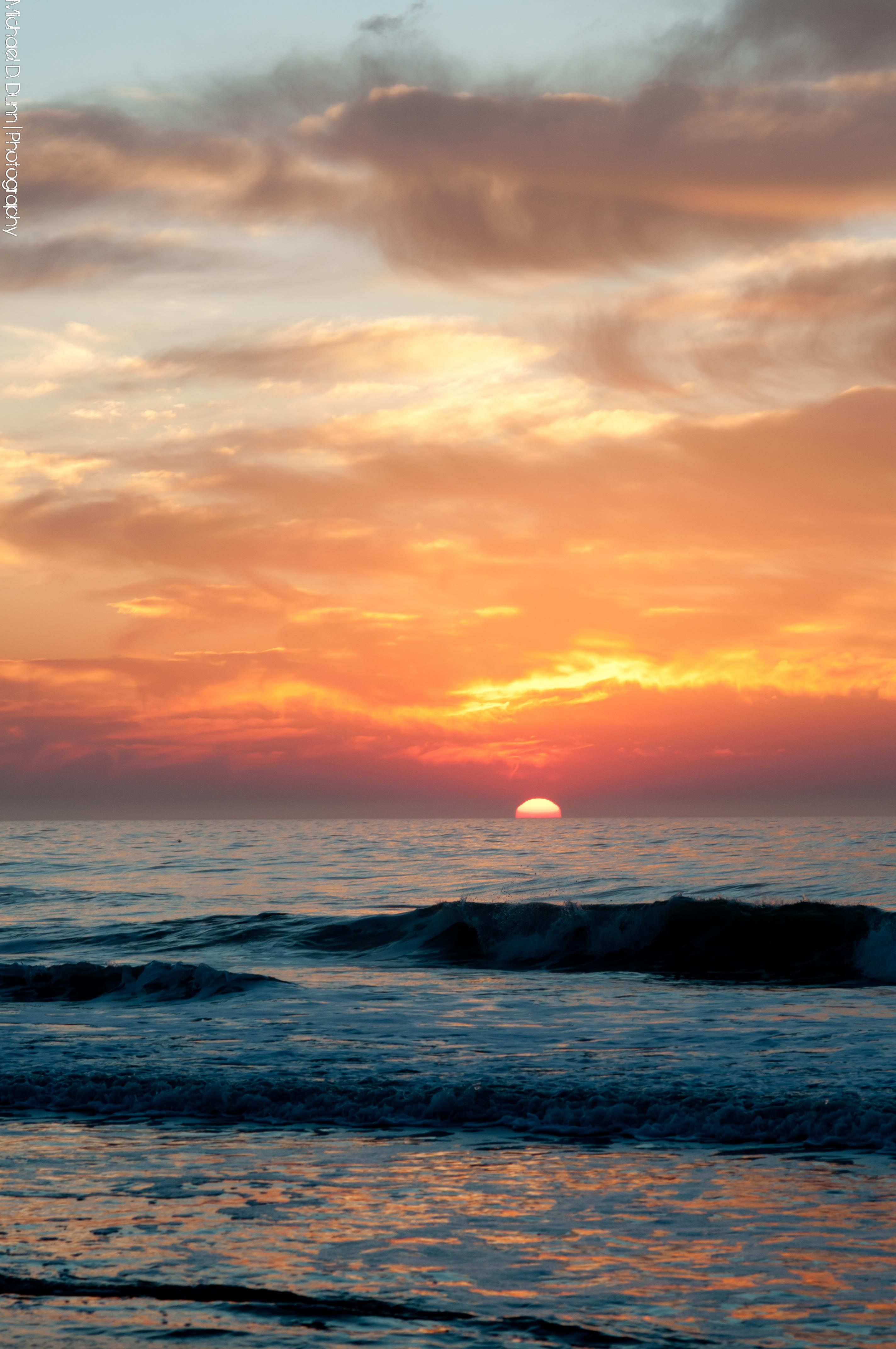 Ignition Sunrise At Onslow Beach Nc