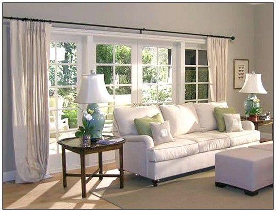 Grosse Fenster Abdeckt Ideen Haus Grosse Wohnzimmer Vorhange