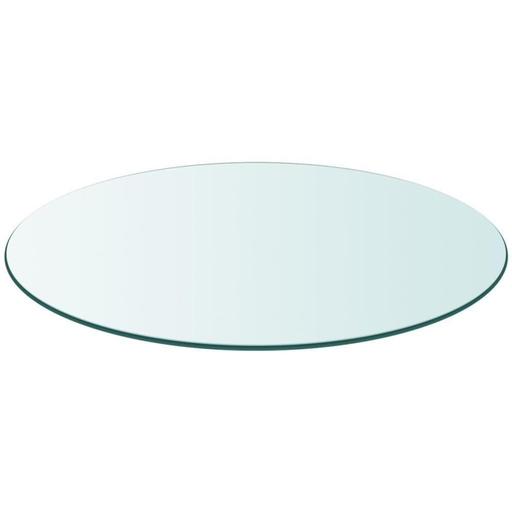 Activity Table Top Design Tempered Glass Round Table Protector
