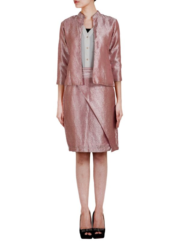 df79fbfaf4 True Browns brings to you a stunning and lovely pink silk blazer that will  add a