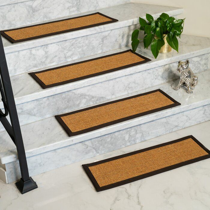 Best Laughlin 100 Natural Fiber Stair Tread Sisal Carpet 640 x 480