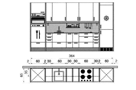 Plan cuisine gratuit  20 plans de cuisine de 1 m2 à 32 m2 - plan maison architecte gratuit