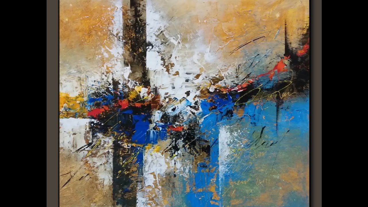 Abstract painting Acrylic abstract demo textured New YouTube