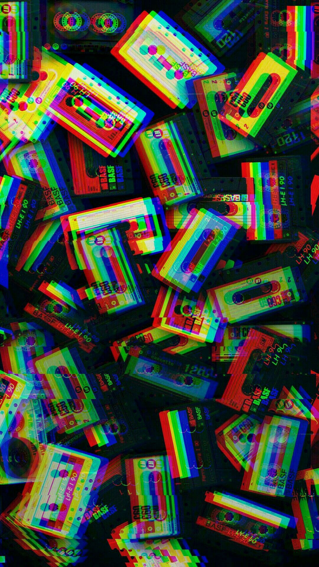 Vintage Glitch Cassette Tape Wallpaper Glitch Wallpaper Aesthetic Iphone Wallpaper Trippy Wallpaper
