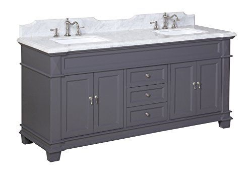 Elizabeth 72-inch Bathroom Vanity (Carrara/Charcoal Gray): Includes Gray Cabinet with Soft Close Drawers, Authentic Italian Carrara Marble Top, and Two Ceramic Sinks Kitchen Bath Collection http://www.amazon.com/dp/B00RC0UVFU/ref=cm_sw_r_pi_dp_gLy0ub05GR8T8