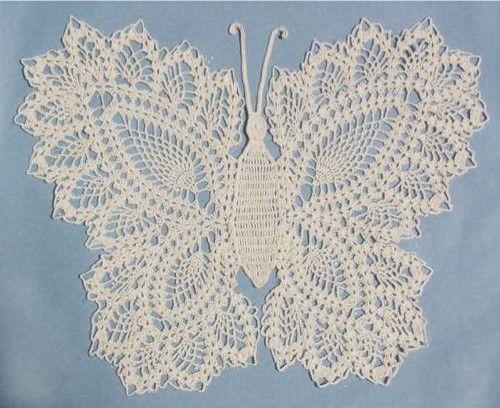 Butterfly Doily 2 Crochet Pattern | Deckchen, Häckeln und Handarbeiten