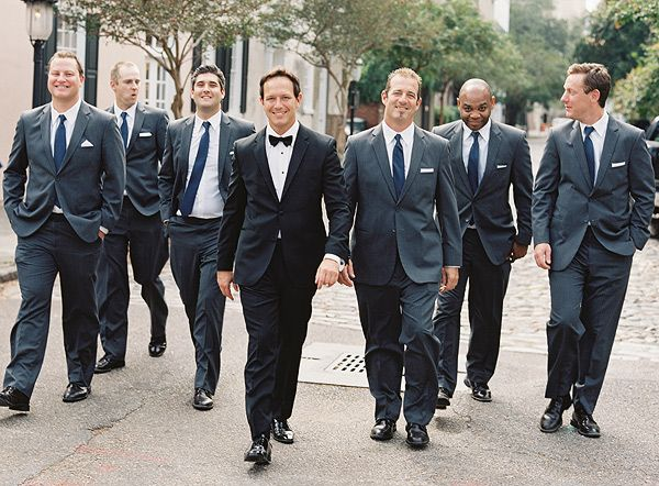 to buy drop shipping fast delivery Black tux groom (no bow tie) and gray tux groomsmen...these ...