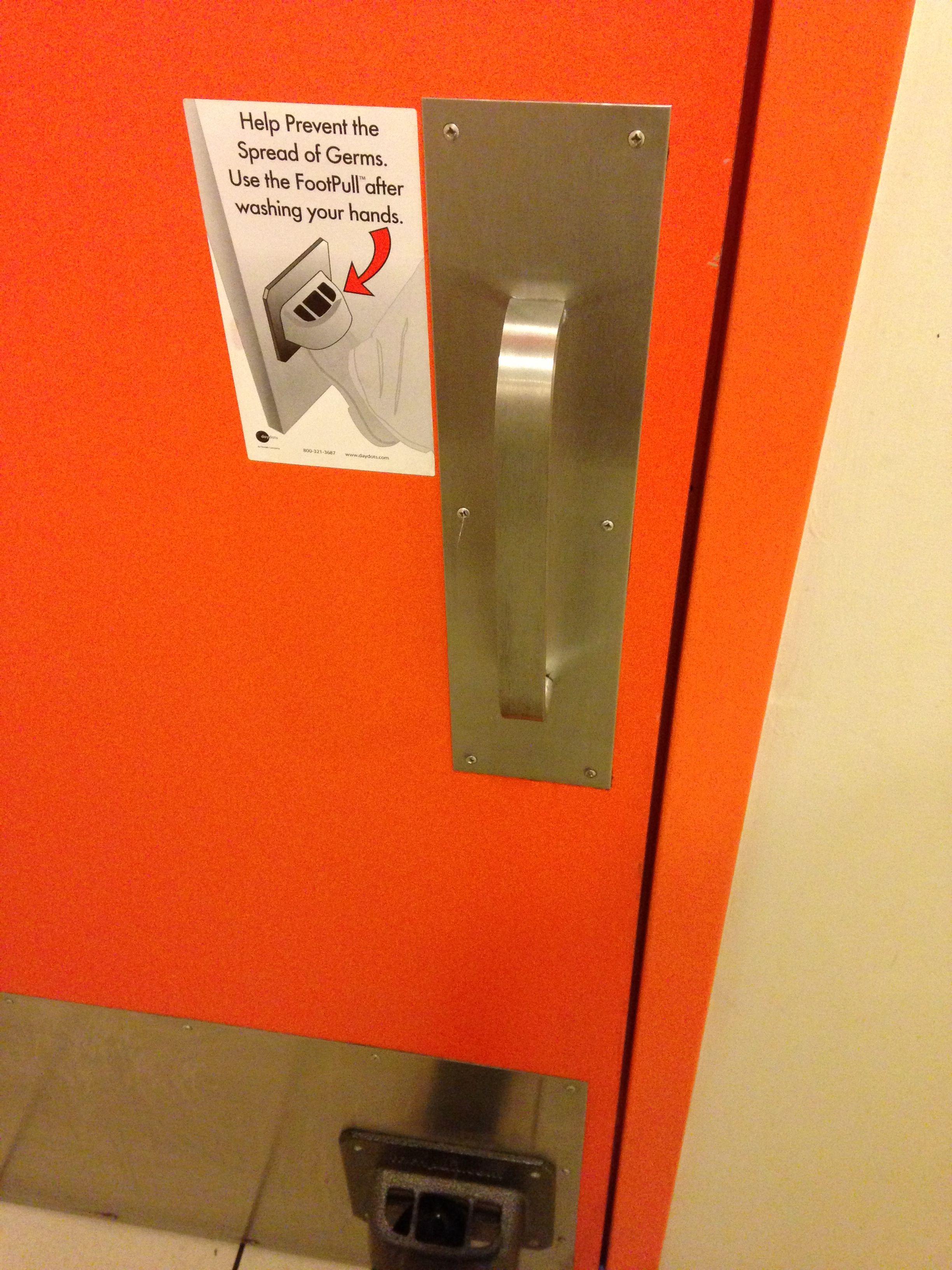Sanitary Washroom Door Opener Things Abnormal Funny