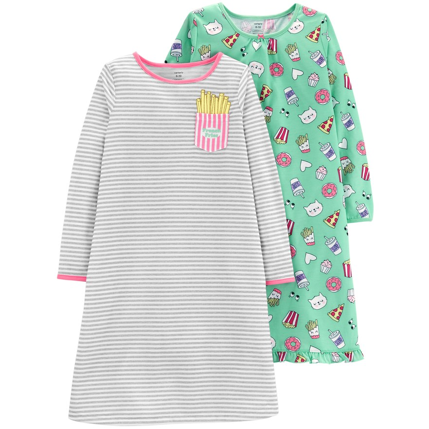 f7defe534ef5 Girls 4-14 Carter s 2-pack Long Sleeve Nightgowns in 2018