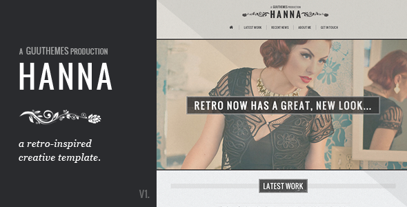 HANNA - Responsive Retro HTML5/CSS3 Template | Pinterest