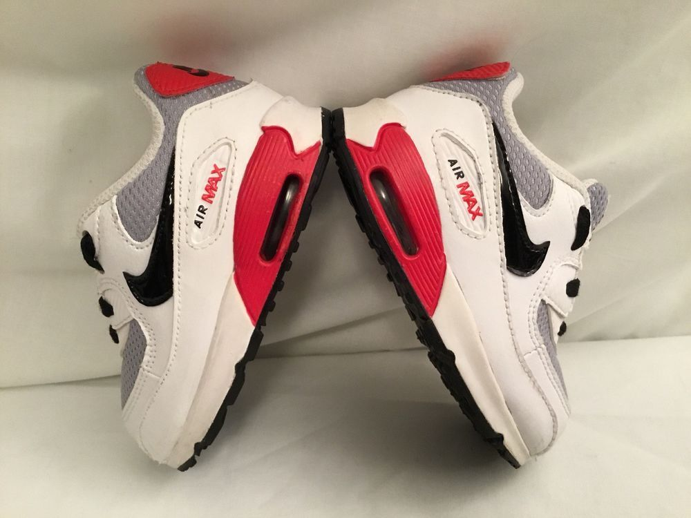 low priced 8dc8b fd8e1 Nike Air Max 90 408110-400 Black Red White Shoes Toddlers Size 5C VGC  Nike   BabyToddlerShoes