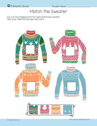 Free Kindergarten Winter Worksheets For Kids To Practice Logic And