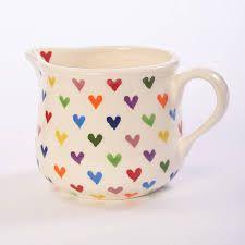 Heart milk jug.