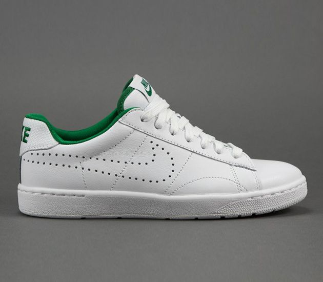 Autumn/Winter 2016 Women / Men  nike  Tennis Classic AC LTR QS White White Victory Green shoes UK LM85003777