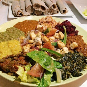 Desta Ethiopian Restaurant Dallas Tx United States Yummy En And Veggie Combo