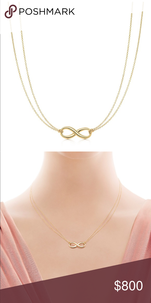 24aaf2385 Tiffany Gold Infinity Necklace Authentic gold looped double chain necklace.  Purchased from Tiffany's in the