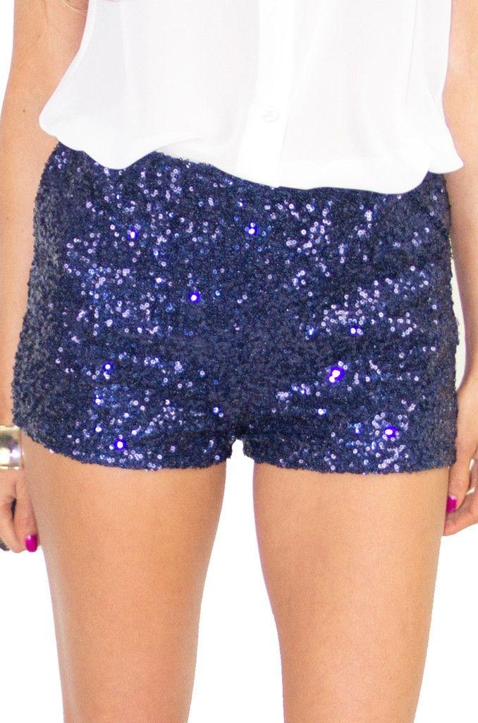 BLUE SEQUIN SHORTS | MyFashion | Pinterest | Sequin shorts ...