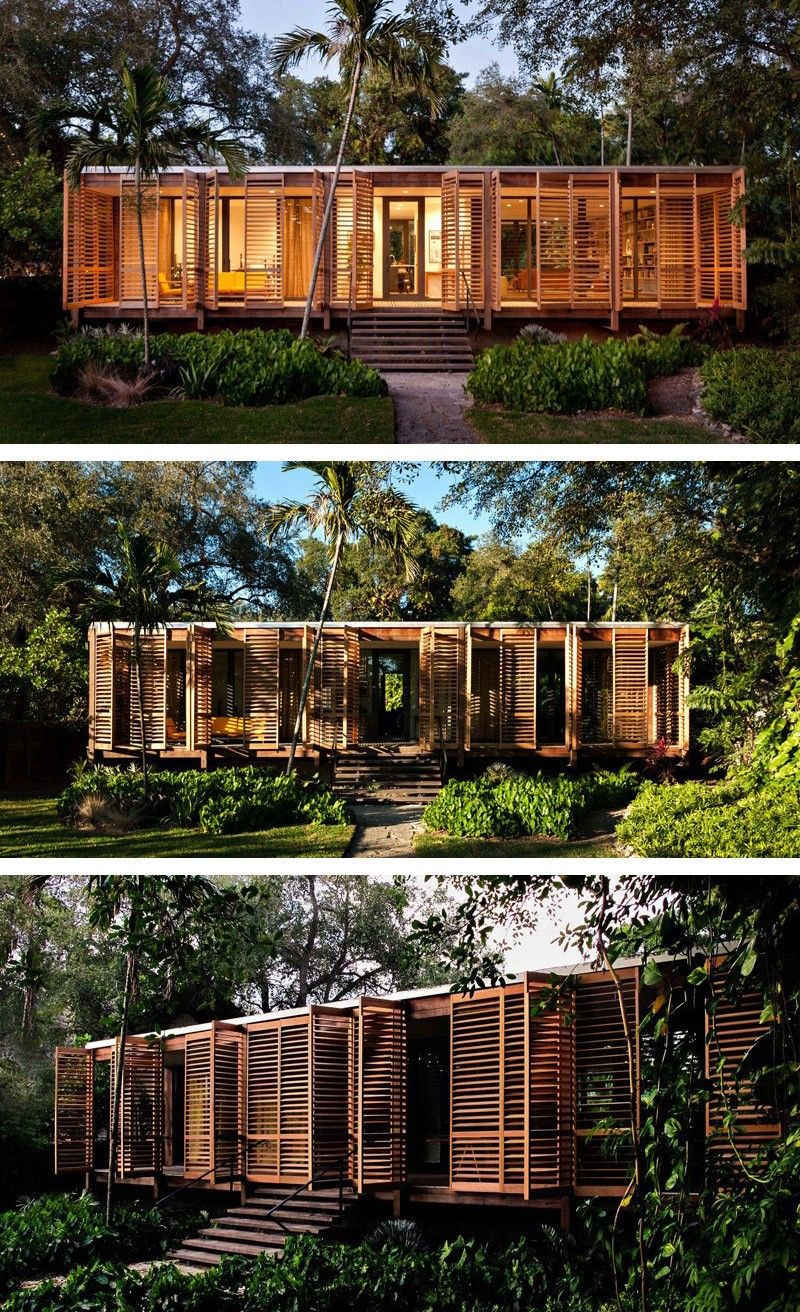 Container House An Architect S Own Tropical Refuge In Miami Brillhart Architecture Have Designed And Bui Container House Tropical Architecture Architecture