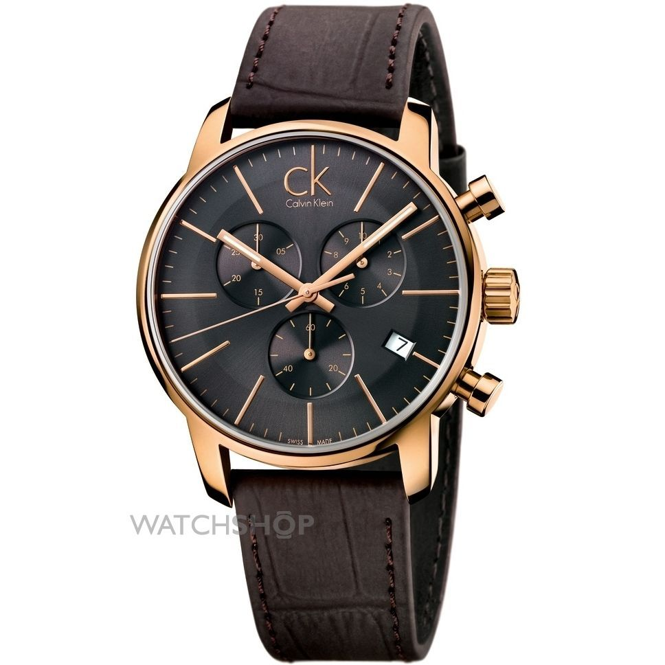 Men s Calvin Klein City Chronograph Watch (K2G276G3) - WATCH SHOP.com™ f6b33dd30c