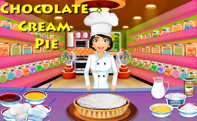 لعبة تحضير فطيرة الشوكولاتة بالكريمة لعبة حلوة من العاب طبخ الرائعة جدا علي العاب فلاش ميزو