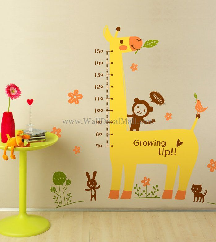 Animals Forest Giraffe Kid Wall Decals u2013 WallDecalMall.com & Animals Forest Giraffe Kid Wall Decals u2013 WallDecalMall.com | Animal ...