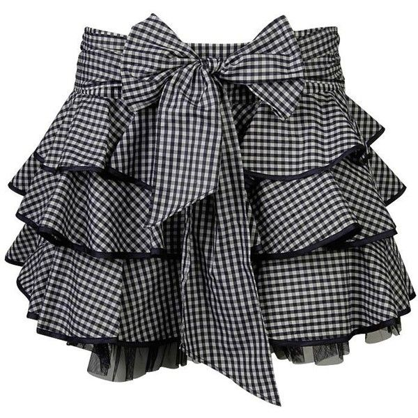Pollyanna Picnic Skirt ($16) ❤ liked on Polyvore featuring skirts, bottoms, saias, gonne, tiered ruffle skirt, checkerboard skirt, forever 21, bow skirt et forever 21 skirts