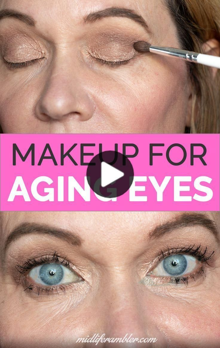 Eye Makeup For Crepey Eyelids in 2020 Makeup for droopy