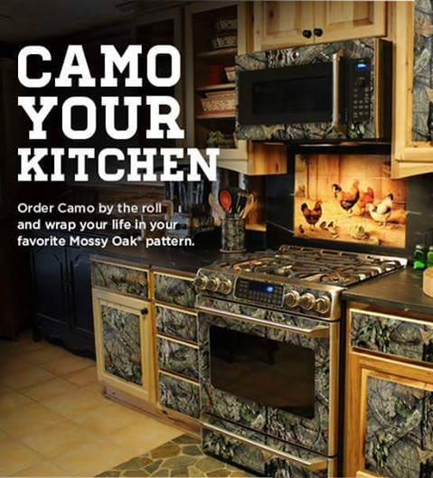 Camo Your Kitchen Mossy Oak Patterns Cabin Life Camo Rooms