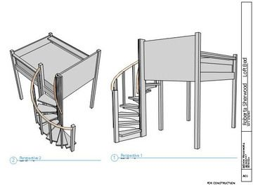 Build a Loft/Bed with Spiral Stairs